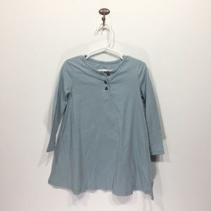 Old Navy long sleeve blue cotton dress flare 3t
